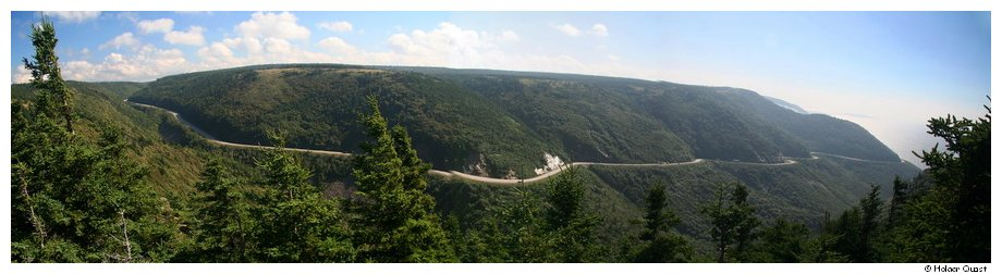 Cabot Trail Panorama im Cape Breton National Park