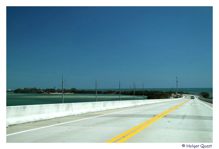 U.S. Highways 1  - Overseas Highway auf dem Weg nach Key West