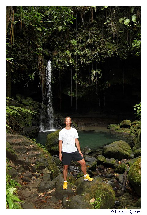Holger am Emerald Pool - Dominica