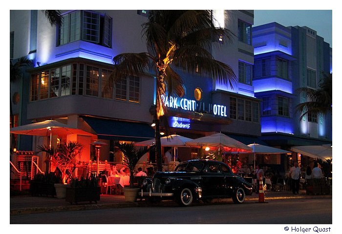 Ocean Drive at night- Miami Beach