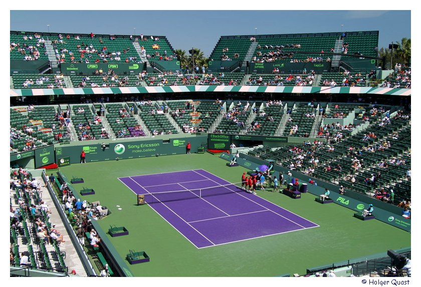 Center Court des Tennis Stadions in Miami - Key Biscayne