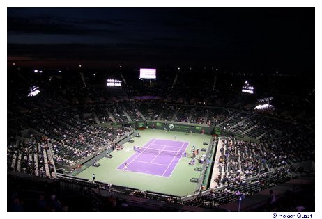 Night Session der Sony Ericsson Tennis Open