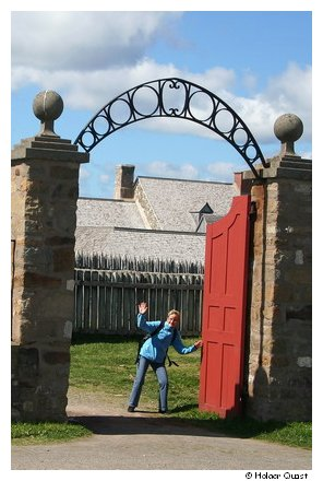 Ela im  Fortress of Louisbourg