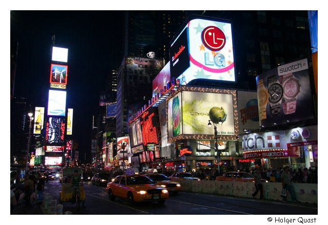 Times Square at night - Broadway - New York City
