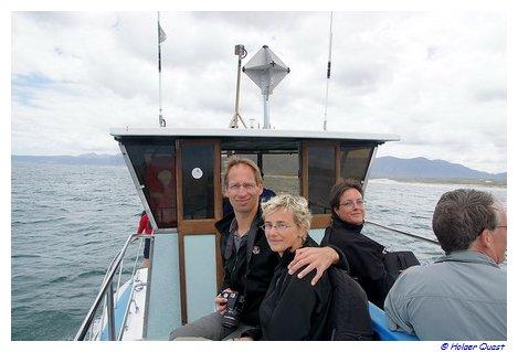 Holger und Ela auf dem Whale Watching Boot
